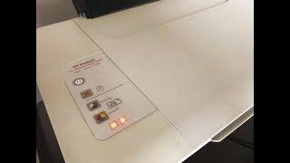 Impressora HP Deskjet 1516 piscando