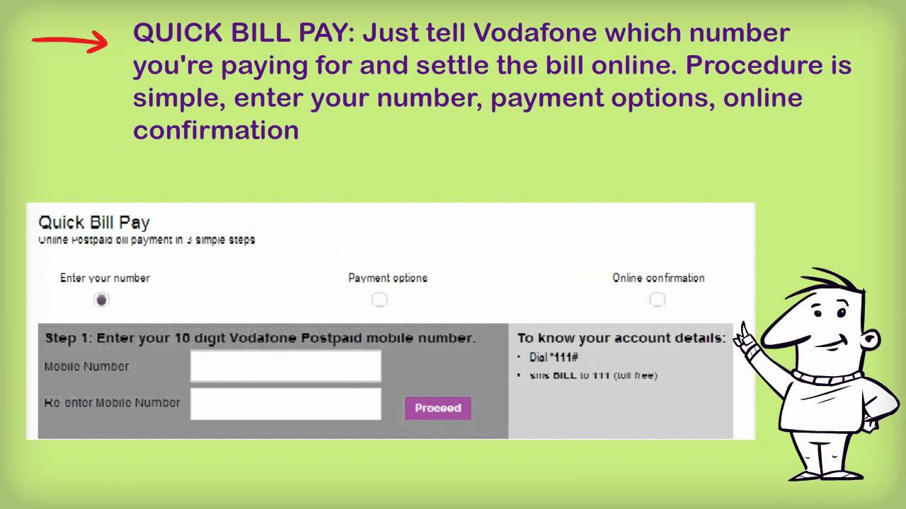 What are the different ways to pay Vodafone bill? (India)