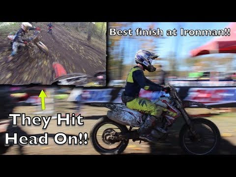 HEAD ON CRASH ALMOST ENDED HIS RACE!! 2018 Ironman GNCC