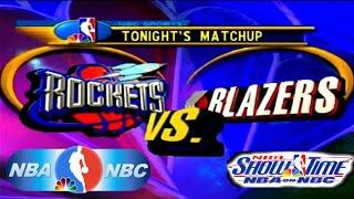 NBA Showtime: NBA on NBC PlayStation Gameplay - Portland Trail Blazers @ Houston Rockets (ABA Ball)