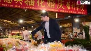 Китай. Оптовый рынок цветов в Гуанчжоу: сверхдоходный бизнес