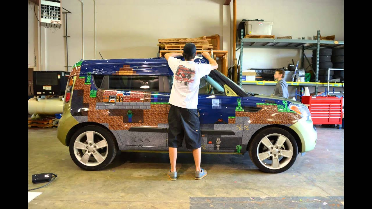 Theminecar Minecraft In My Soul Vehicle Wrap Youtube