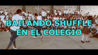 BAILANDO SHUFFLE  EN EL  COLEGIO
