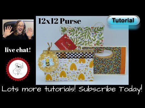 One Sheet Purse / 12 x 12 paper purse / TUTORIAL  Quick and Easy Handmade purse
