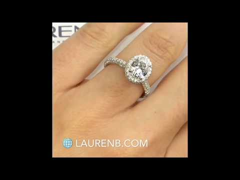 1.39 ct Oval Diamond Halo Engagement ring