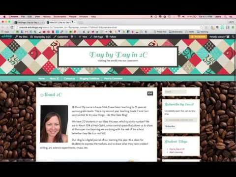 How to Make Pages on Edublogs