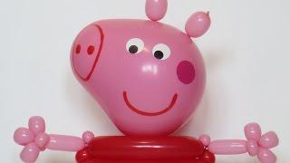Свинка Пеппа из шаров (голова) / Peppa pig of balloons (head)