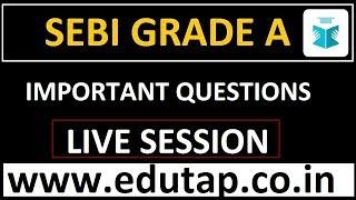 SEBI Grade A 2018 | Important Questions and Concepts |