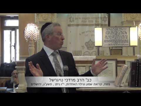 הרב מרדכי נויגרשל (HD) פסח וגילוי האחדות
