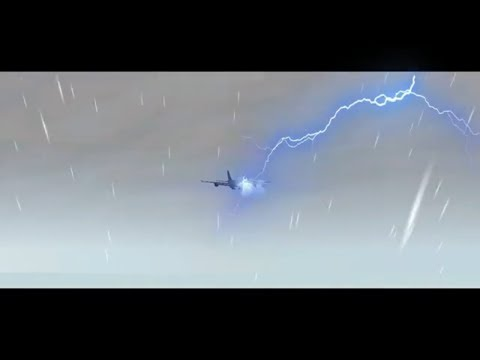 extreme landing in rain and thender