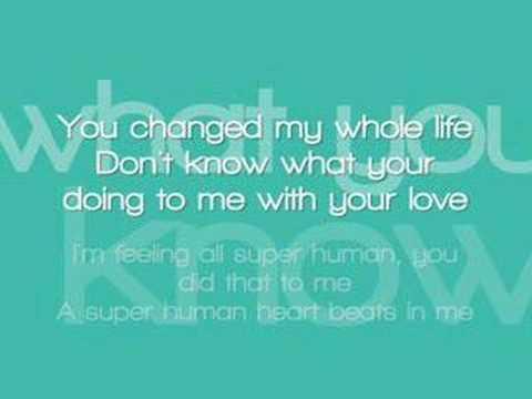 Chris Brown ft. Keri Hilson - Superhuman with lyrics