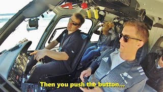 Pilot Explains How To Start A Helicopter (Eurocopter As-355)