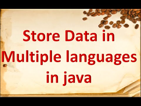 How to store different languages in java