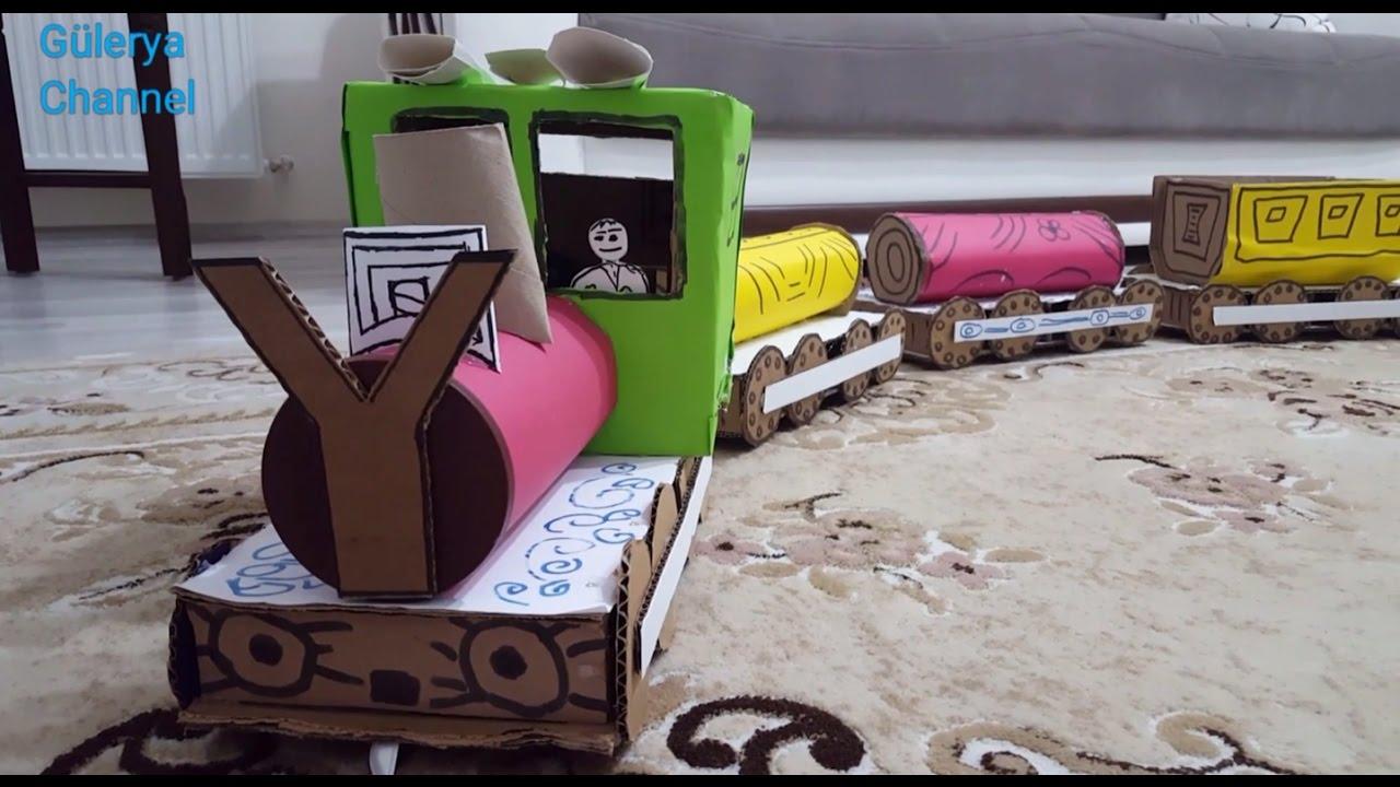 Adım adım bir buhar motoruyla bir çocuk demiryolu nasıl çizilir