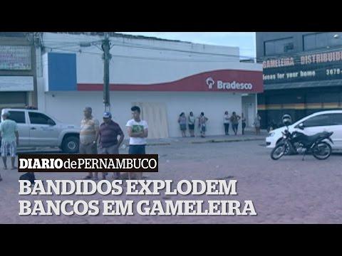 Bandidos explodem agências bancárias na cidade de Gameleira