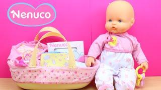 Mi primer Bebé NENUCO con su canastilla | Accesorios para Nenuco recién nacido en español thumbnail
