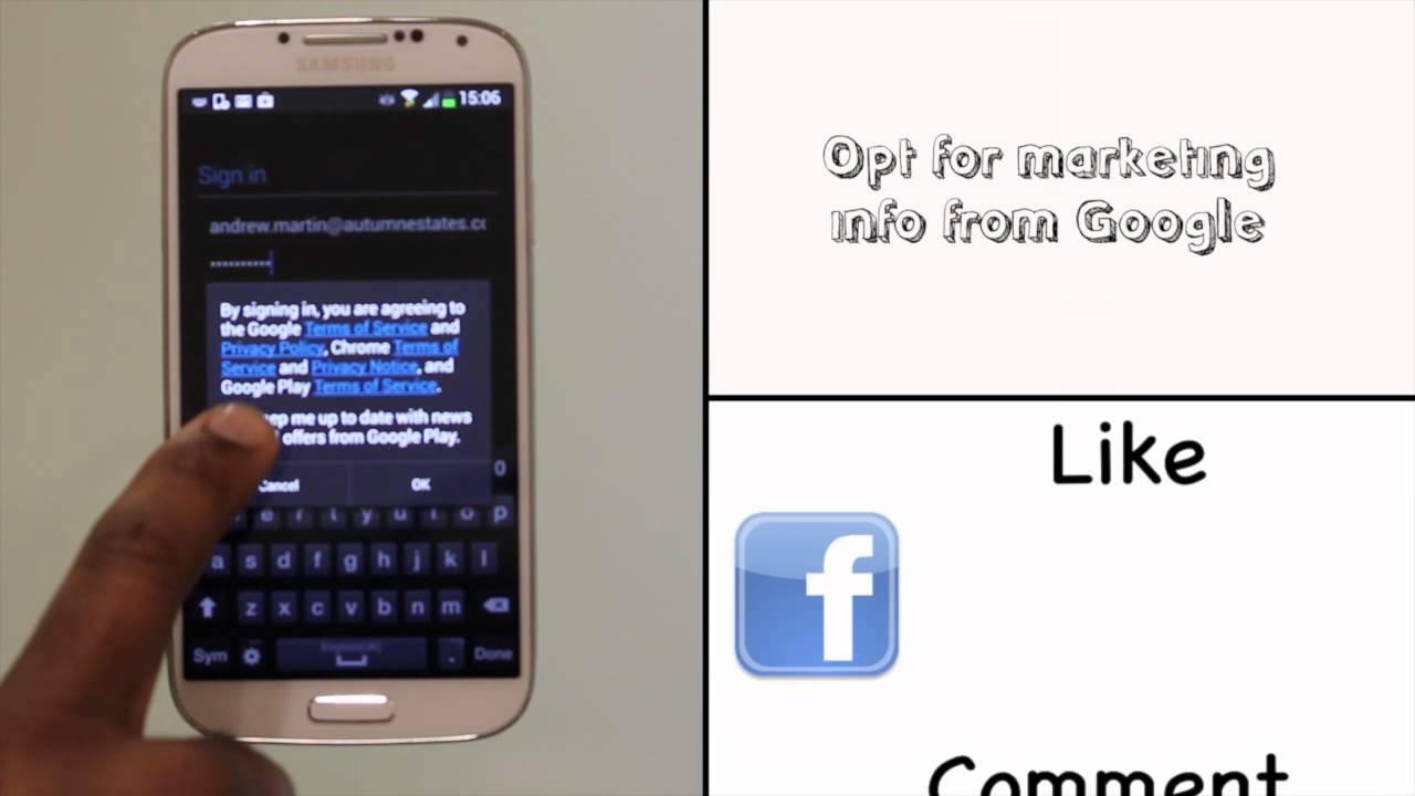 signing into your google account using your samsung galaxy s4 rh youtube com google pixel phone manual google nexus phone manual