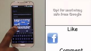 Signing into your Google account using your Samsung Galaxy S4   Android tutorials   The Human Manual