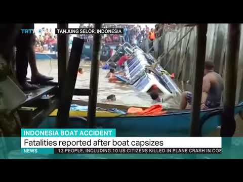 Indonesia boat capsize: At least 8 dead, 13 missing