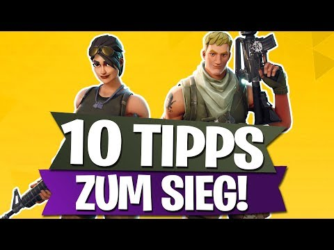 TOP 10 TIPPS ZUM SIEG | FORTNITE BATTLE ROYALE Deutsch