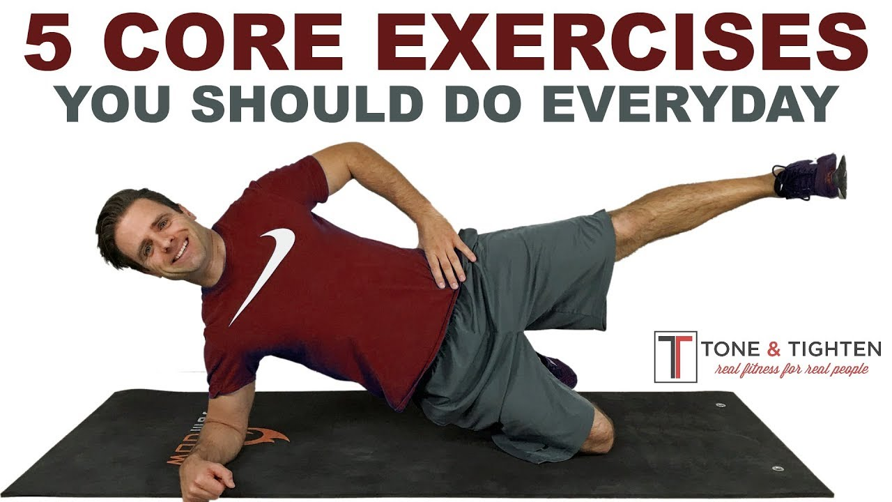 5 Of The Best Core Exercises You Should Do Everyday Youtube