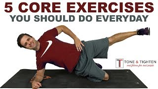 We could all use a stronger core. as doctor of physical therapy many the problems i treat are resolved with increased core strength. daily total body st...
