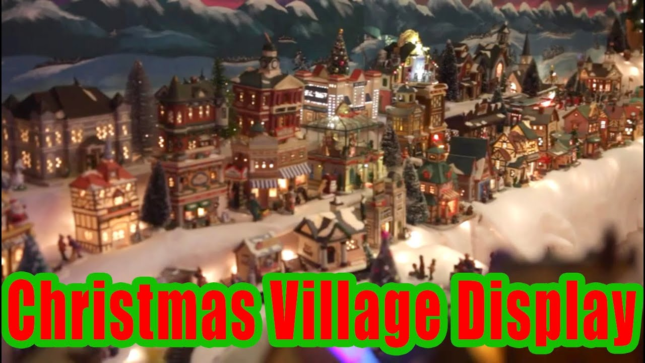 amazing christmas village display youtube - Christmas Village Decorations