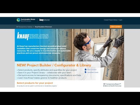 Project Builder / Configurator & Library Makes Product Transparency Understandable AND Actionable