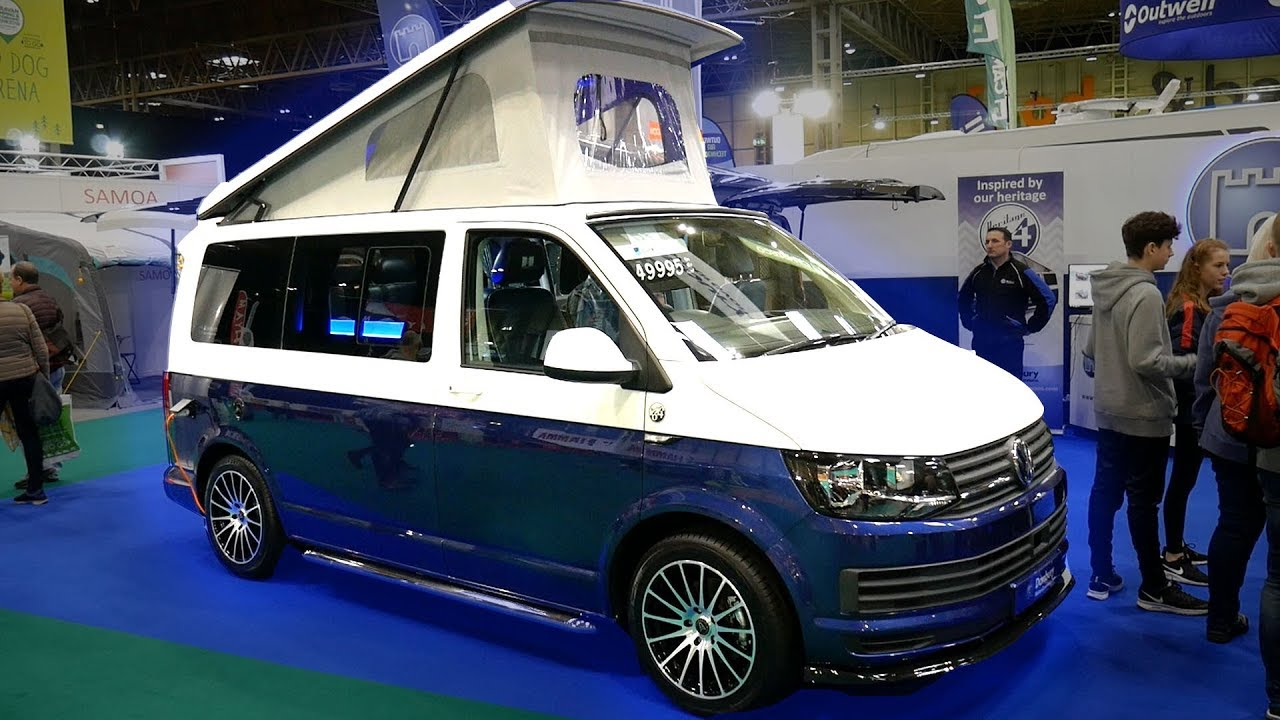 taking a look inside a custom vw t6 futuristic camper. Black Bedroom Furniture Sets. Home Design Ideas