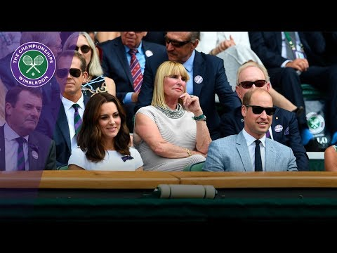 Duke and Duchess of Cambridge in Royal Box for the Wimbledon 2017 men's singles final