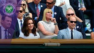 Duke and Duchess of Cambridge in Royal Box for the Wimbledon 2017 men