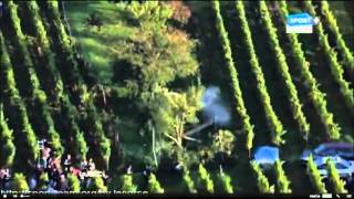 Petter Solberg goes off in the vineyards WRC Rallye de France 2012 SS9