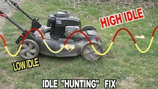 Fixing A 6.25EX Mower from surging...Up and Down...Up and Down...