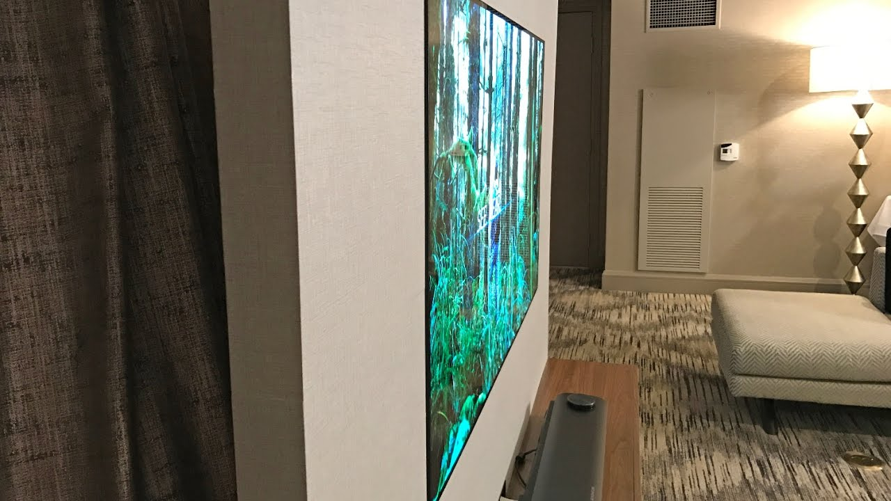 lg w7 4k oled tv an amazingly thin television youtube. Black Bedroom Furniture Sets. Home Design Ideas