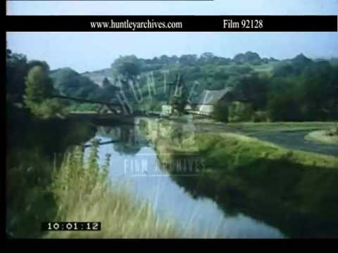 Industrial revolution, engines and canals.  Archive film 92128