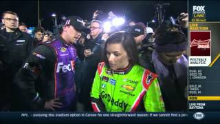 Danica Patrick angry with Denny Hamlin after NASCAR Bud Duels 2015