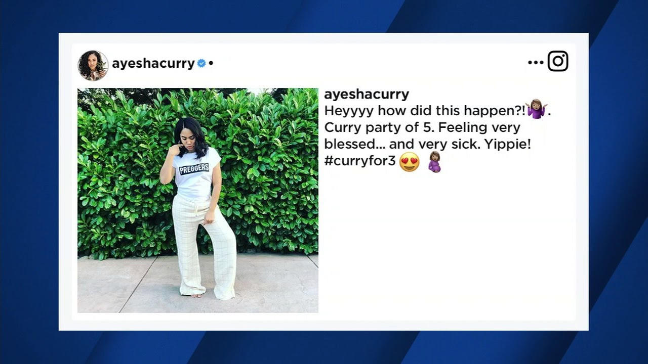 Ayesha Curry announces she\'s pregnant with 3rd child - YouTube