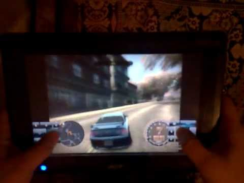 NFS Most Wanted на Acer Iconia Tab W500