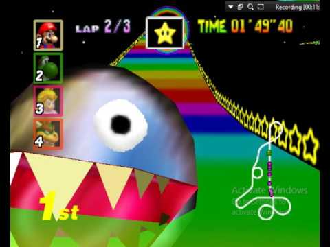 Mario Kart 64 Gameplay + Starman Hack