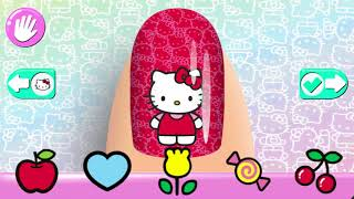 Learn Colors with Hello Kitty - Paint Nail for Kids - Educational video