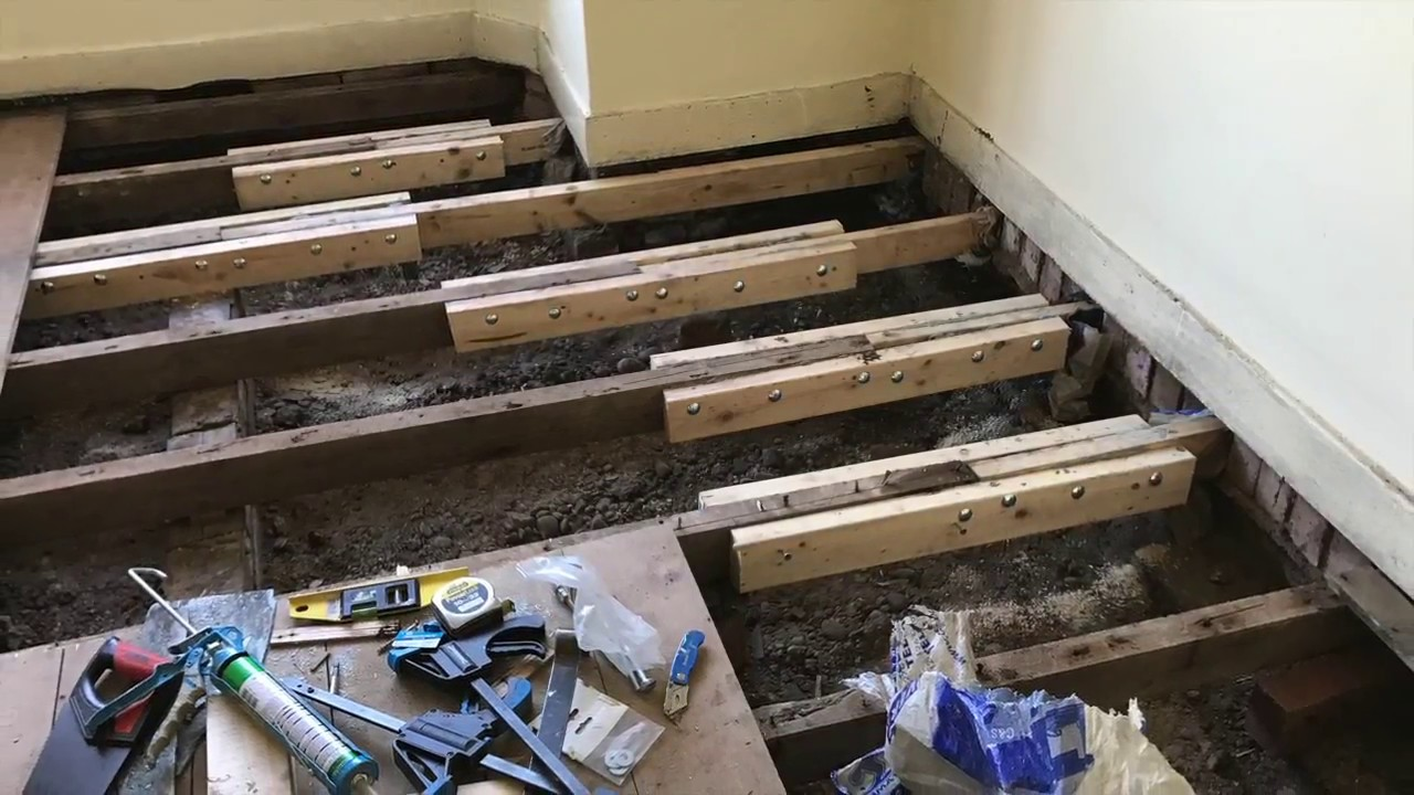 Sistering Floor Joists Youtube