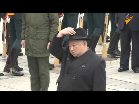 Russia: Kim Jong-un Lays Wreath at Military Glory Memorial in Vladivostok