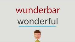Wie heißt wunderbar auf englisch