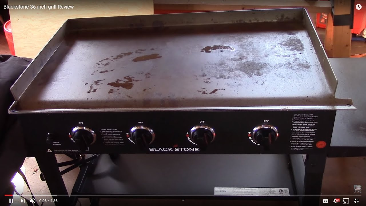 Blackstone 36 inch grill Review  YouTube