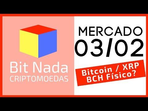 Mercado de Cripto! 03/02 Bitcoin sobe e desce / XRP / Notas de BCH / Comprando Imóveis com BTC