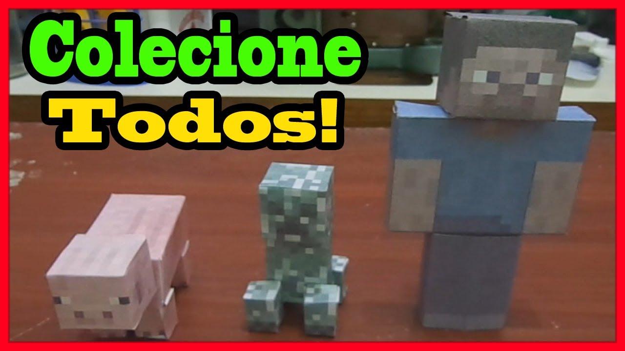 Papercraft Miniaturas do Minecraft (papercraft) - Aprenda a fazer!