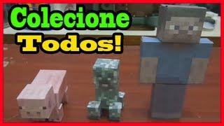 Miniaturas do Minecraft (papercraft) - Aprenda a fazer!