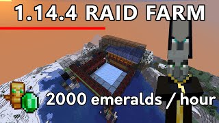 Minecraft 1.14.4 Raid Farm - 2000 emeralds per hour