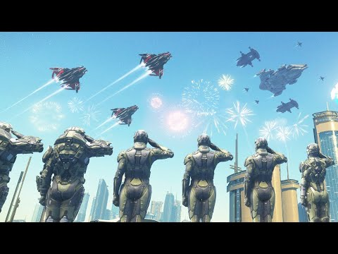 FIRST LOOK - Biggest Warship Fleet Ever Assembled - Ships Tour   Star Citizen Multiplayer Gameplay