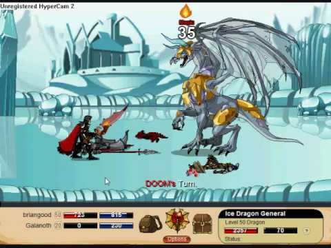 Dragonfable: Gary The Ice Elf and Ice Dragon General